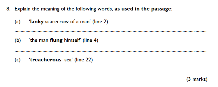 King's College School - 9 Plus English Practice Paper 2015 Question 08