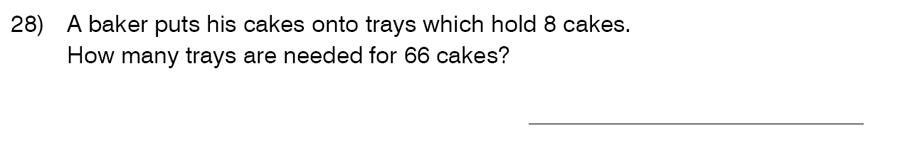 King's College School - 9 Plus Maths Practice Paper 2014 Question 28
