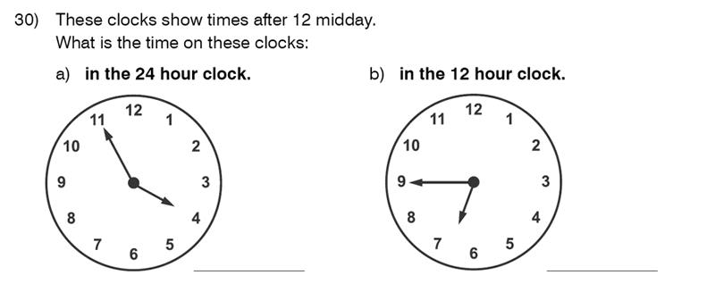 King's College School - 9 Plus Maths Practice Paper 2014 Question 30
