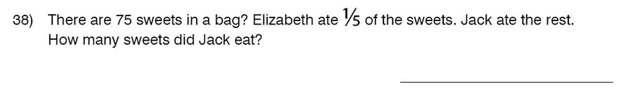 King's College School - 9 Plus Maths Practice Paper 2014 Question 40