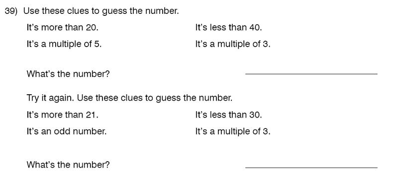King's College School - 9 Plus Maths Practice Paper 2014 Question 41