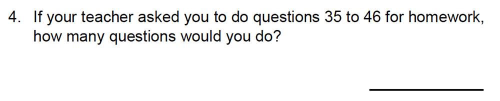 Kingston Grammar School - 10 Plus Maths Specimen Paper Deferred Entry Question 04