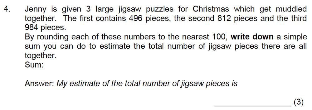 Leicester Grammar School - 10 Plus Maths Specimen Paper Question 05
