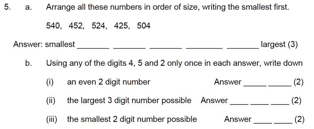 Leicester Grammar School - 10 Plus Maths Specimen Paper Question 06