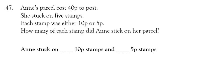 Magdalen College School - 9 Plus Maths Practice Paper Question 44