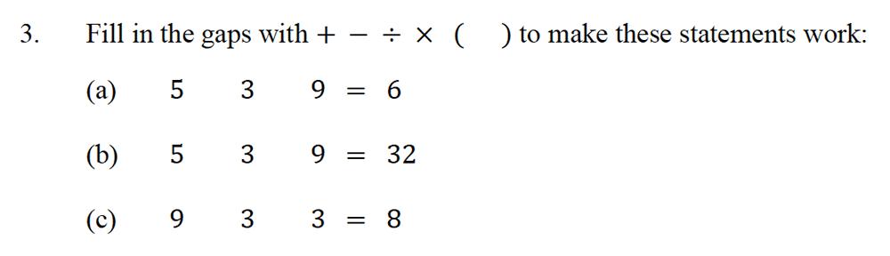 Oundle School - 10 Plus Maths Entrance Exam Paper 2013 Question 05