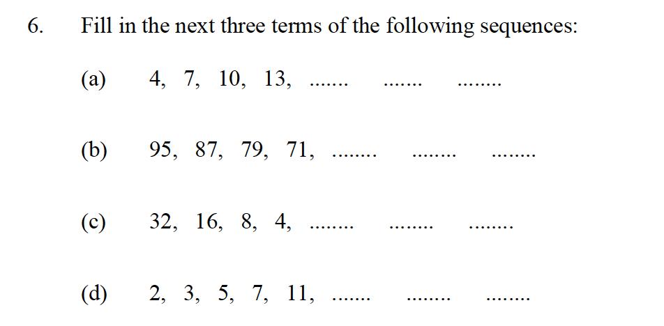 Oundle School - 10 Plus Maths Entrance Exam Paper 2013 Question 08