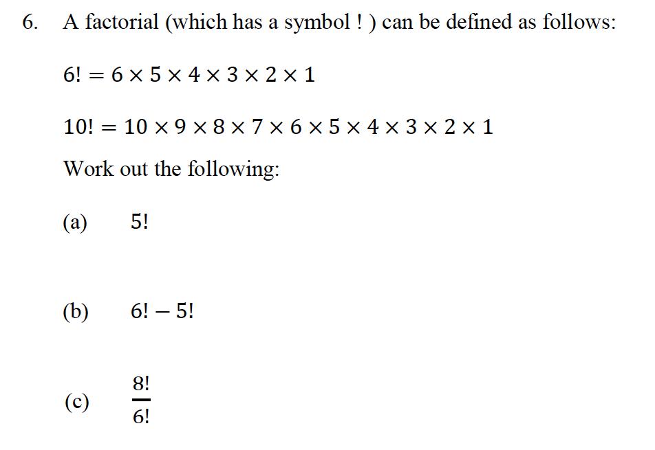 Oundle School - 10 Plus Maths Entrance Exam Paper 2013 Question 15