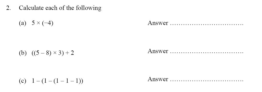 Oundle School - 10 Plus Maths Entrance Exam Paper 2014 Question 03