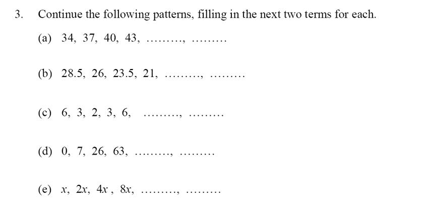 Oundle School - 10 Plus Maths Entrance Exam Paper 2014 Question 04
