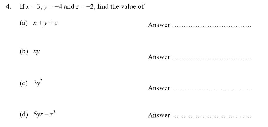 Oundle School - 10 Plus Maths Entrance Exam Paper 2014 Question 05