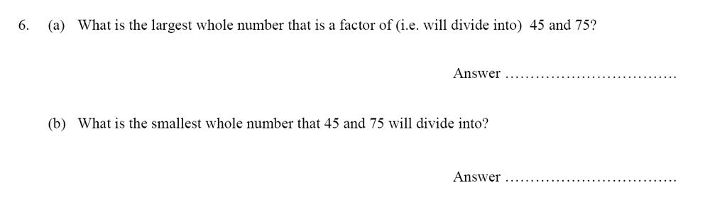 Oundle School - 10 Plus Maths Entrance Exam Paper 2014 Question 07