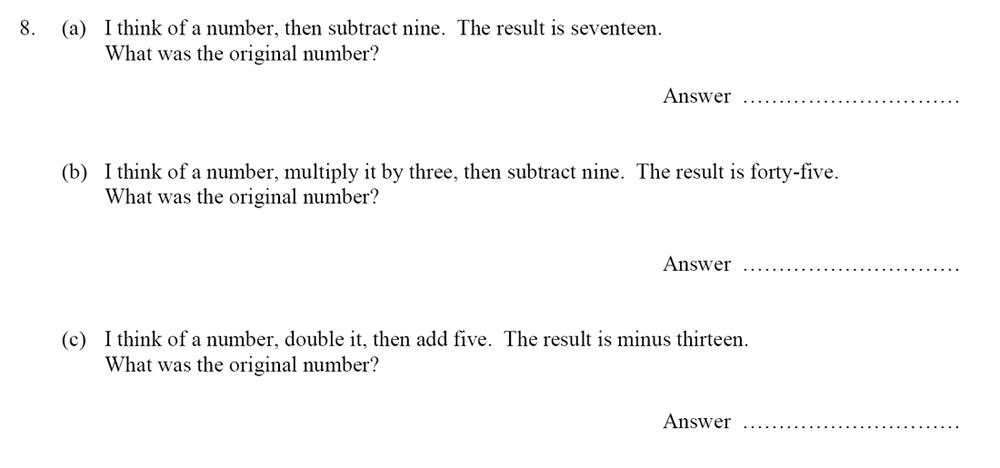 Oundle School - 10 Plus Maths Entrance Exam Paper 2014 Question 09