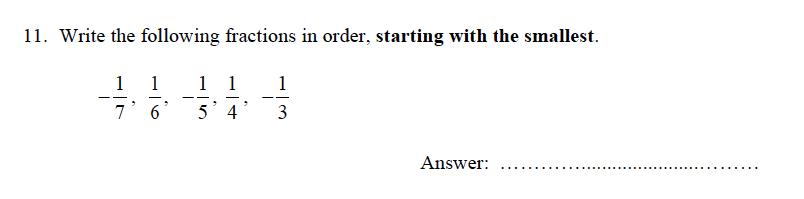 Oundle School - 9 Plus Maths Practice Paper 2012 Question 11