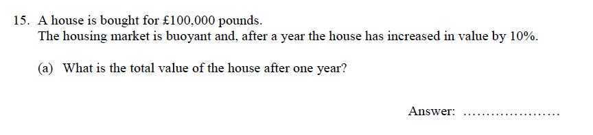 Oundle School - 9 Plus Maths Practice Paper 2012 Question 16