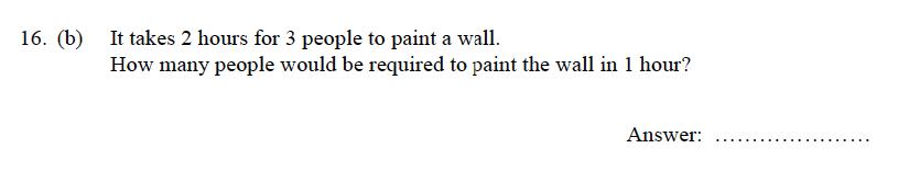 Oundle School - 9 Plus Maths Practice Paper 2012 Question 19