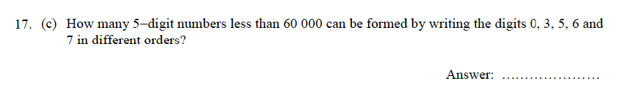 Oundle School - 9 Plus Maths Practice Paper 2012 Question 23