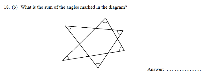 Oundle School - 9 Plus Maths Practice Paper 2012 Question 25