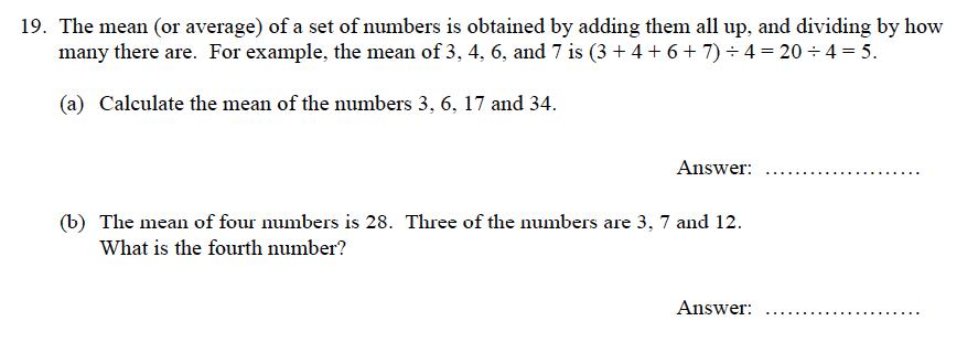 Oundle School - 9 Plus Maths Practice Paper 2012 Question 26