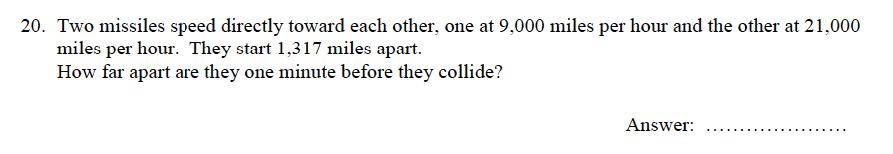 Oundle School - 9 Plus Maths Practice Paper 2012 Question 27