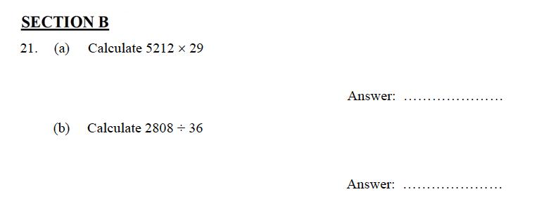 Oundle School - 9 Plus Maths Practice Paper 2012 Question 28