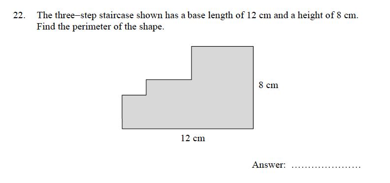 Oundle School - 9 Plus Maths Practice Paper 2012 Question 30