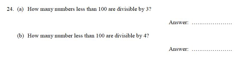 Oundle School - 9 Plus Maths Practice Paper 2012 Question 32
