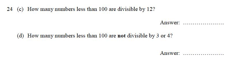 Oundle School - 9 Plus Maths Practice Paper 2012 Question 33