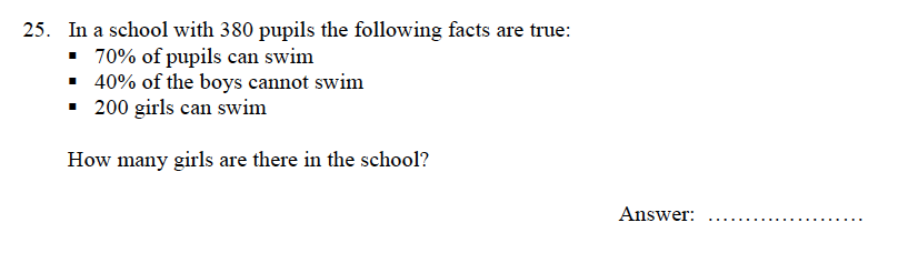 Oundle School - 9 Plus Maths Practice Paper 2012 Question 34