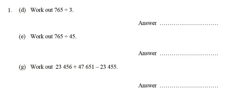 Oundle School - 9 Plus Maths Practice Paper 2014 Question 02