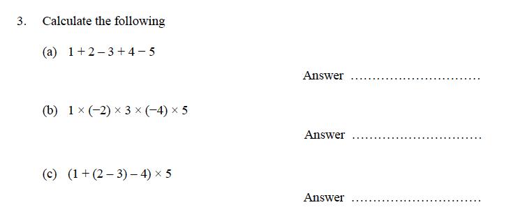 Oundle School - 9 Plus Maths Practice Paper 2014 Question 04