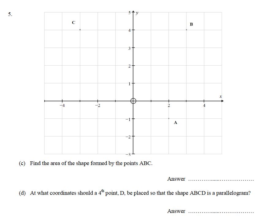 Oundle School - 9 Plus Maths Practice Paper 2014 Question 09