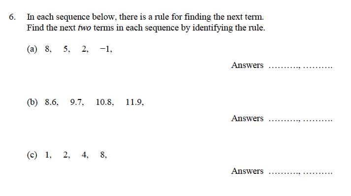 Oundle School - 9 Plus Maths Practice Paper 2014 Question 10