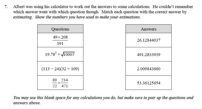 Oundle School - 9 Plus Maths Practice Paper 2014 Question 11