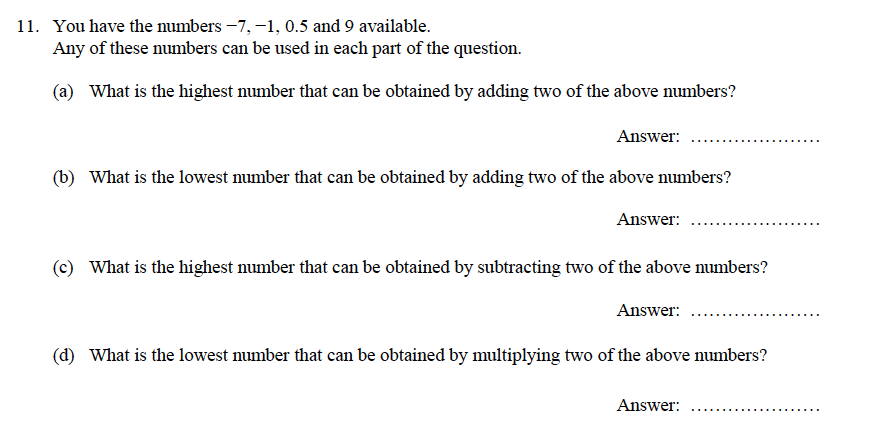 Oundle School - 9 Plus Maths Practice Paper 2014 Question 15