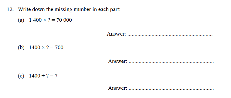 Oundle School - 9 Plus Maths Practice Paper 2014 Question 16