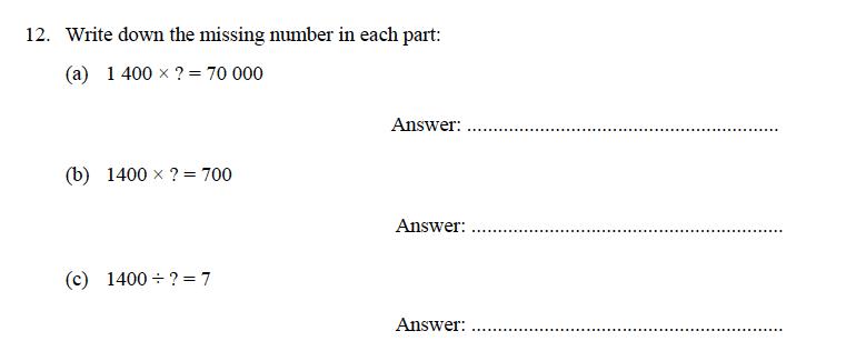 Oundle School - 9 Plus Maths Practice Paper 2014 Question 16