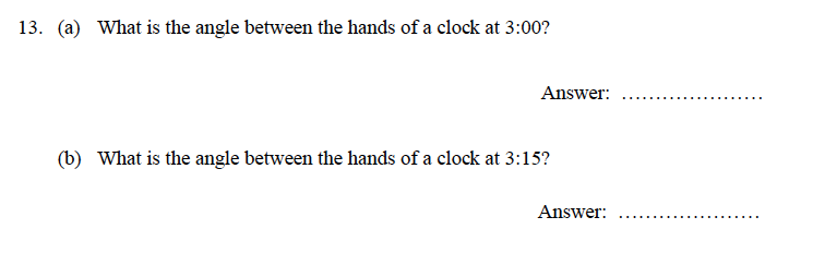 Oundle School - 9 Plus Maths Practice Paper 2014 Question 17