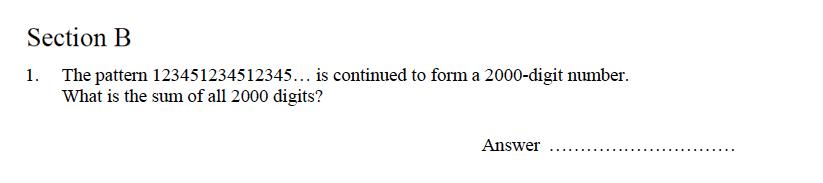 Oundle School - 9 Plus Maths Practice Paper 2014 Question 23