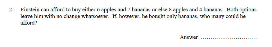 Oundle School - 9 Plus Maths Practice Paper 2014 Question 24
