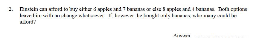 Oundle School - 9 Plus Maths Practice Paper 2014 Question 24