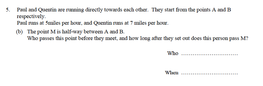Oundle School - 9 Plus Maths Practice Paper 2014 Question 30