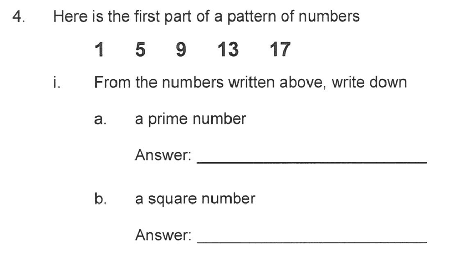 Solihull School - 10 Plus Maths Sample Paper 1 Question 04