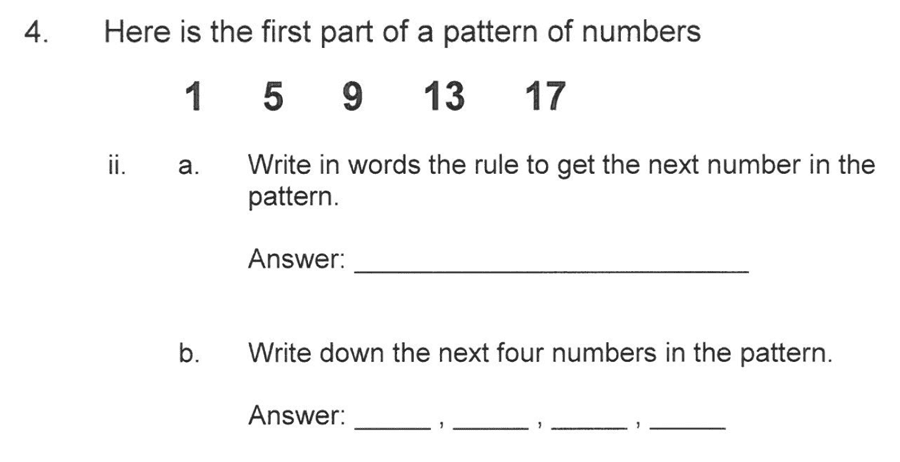 Solihull School - 10 Plus Maths Sample Paper 1 Question 05