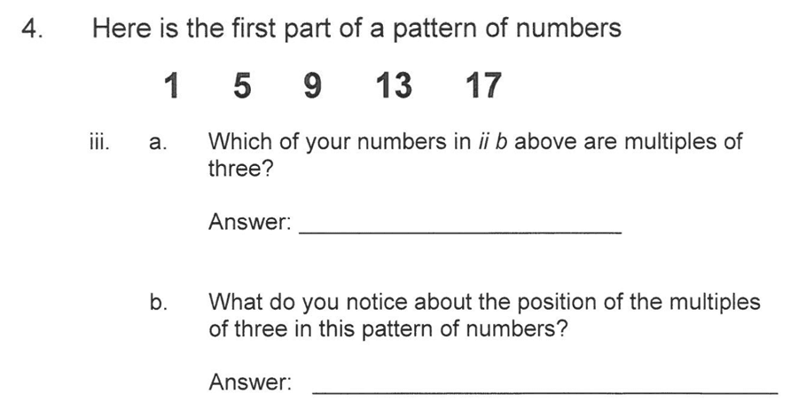 Solihull School - 10 Plus Maths Sample Paper 1 Question 06