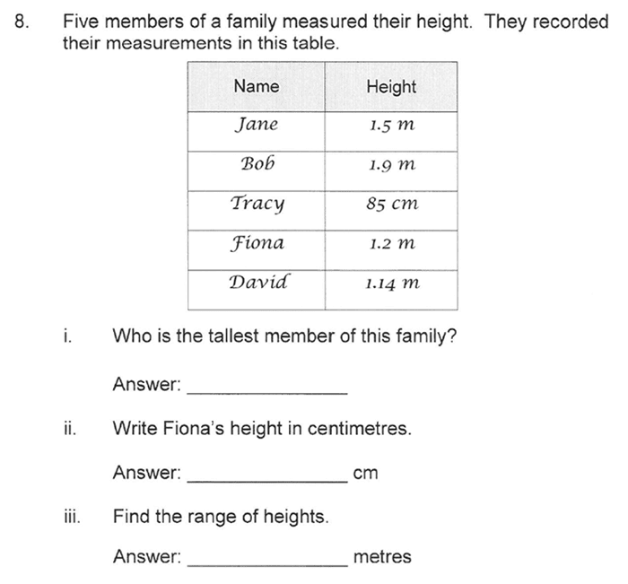 Solihull School - 10 Plus Maths Sample Paper 1 Question 11