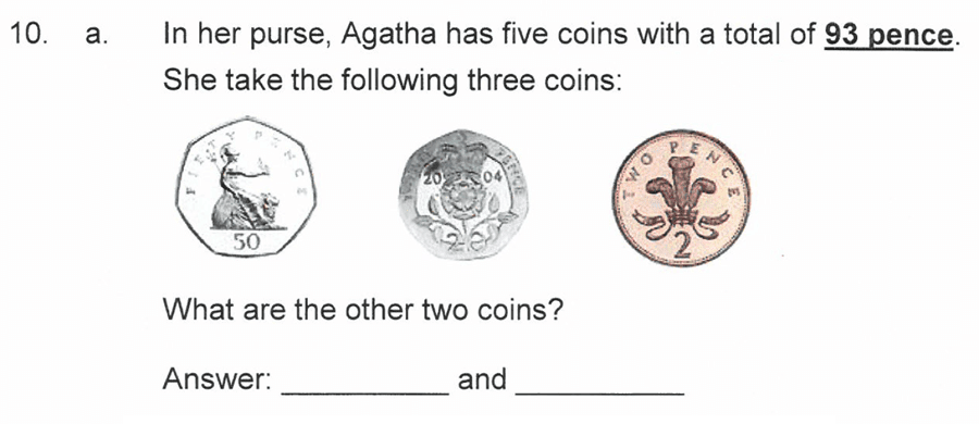 Solihull School - 10 Plus Maths Sample Paper 1 Question 16