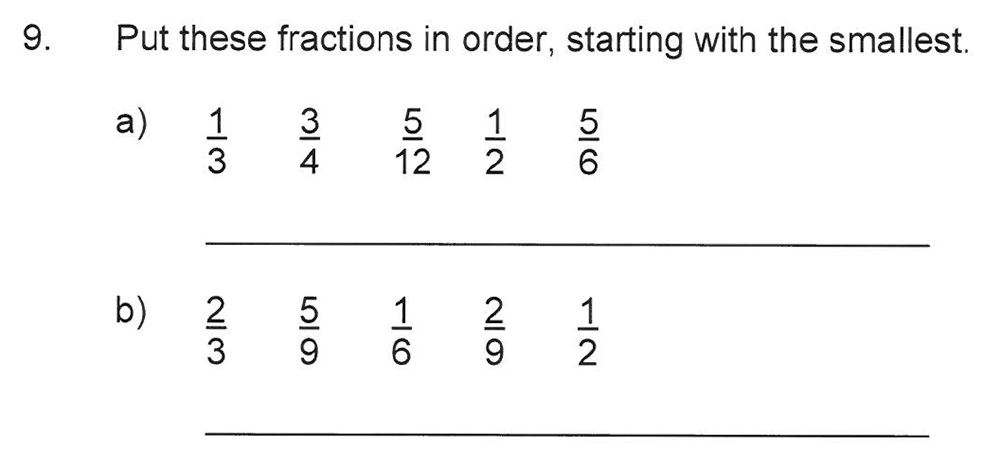 Solihull School - 10 Plus Maths Sample Paper 2 Question 09