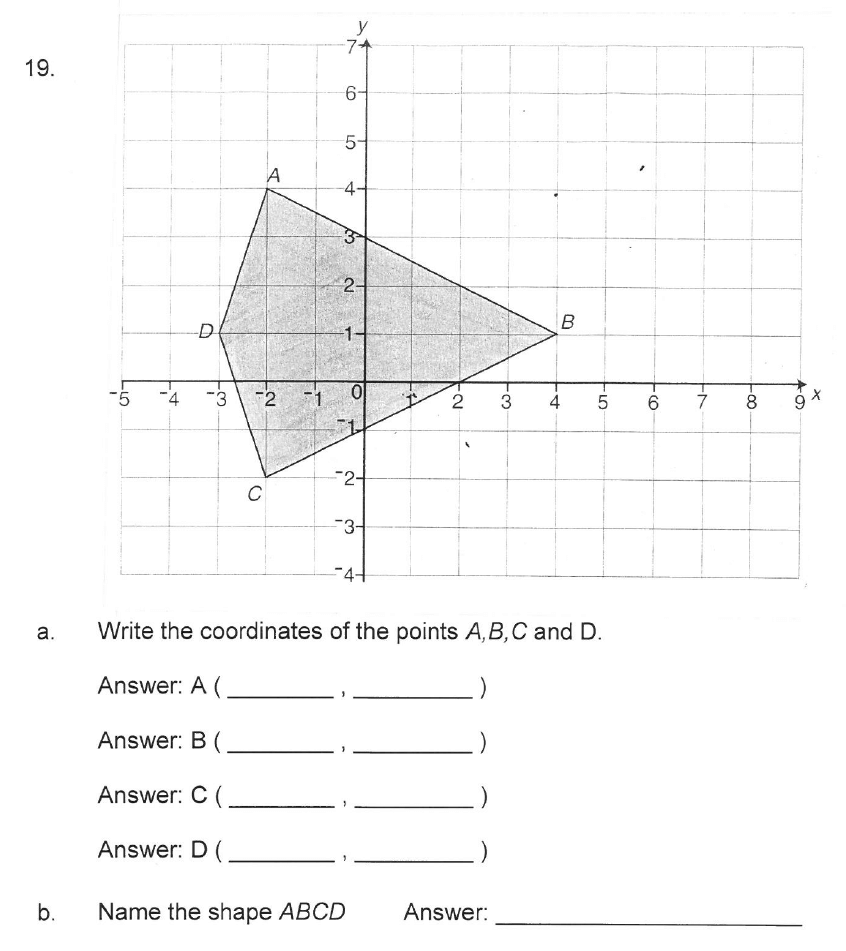 Solihull School - 10 Plus Maths Sample Paper 2 Question 19