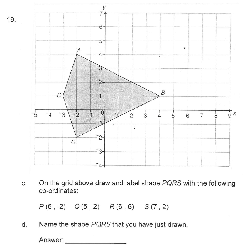 Solihull School - 10 Plus Maths Sample Paper 2 Question 20